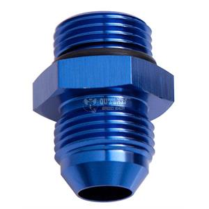 AF513-08 Aeroflow Full Flow Push Lock 90 Degree Hose End 8AN Blue