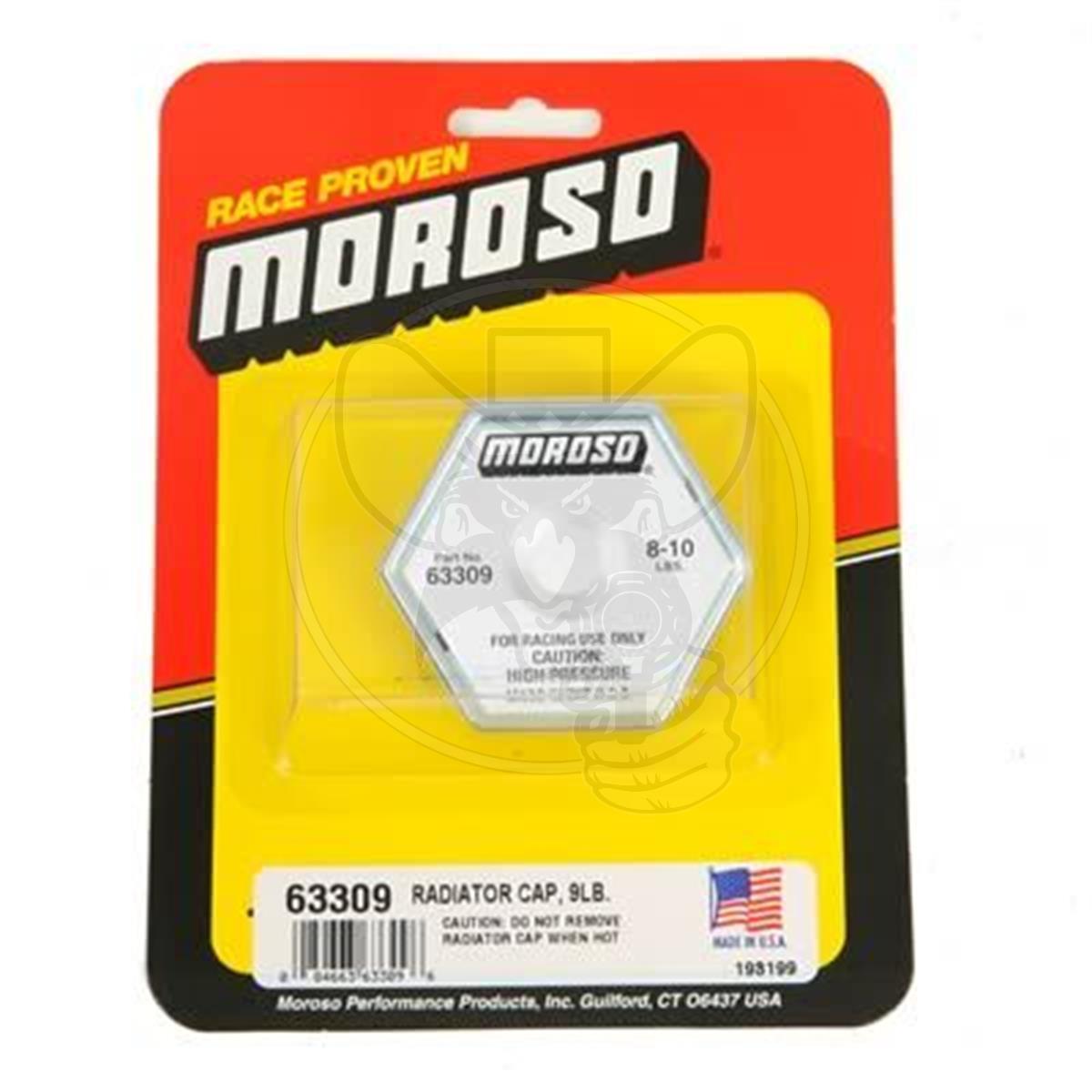 Mo63309 Moroso Radiator Cap Steel Hexagon Moroso Logo 8